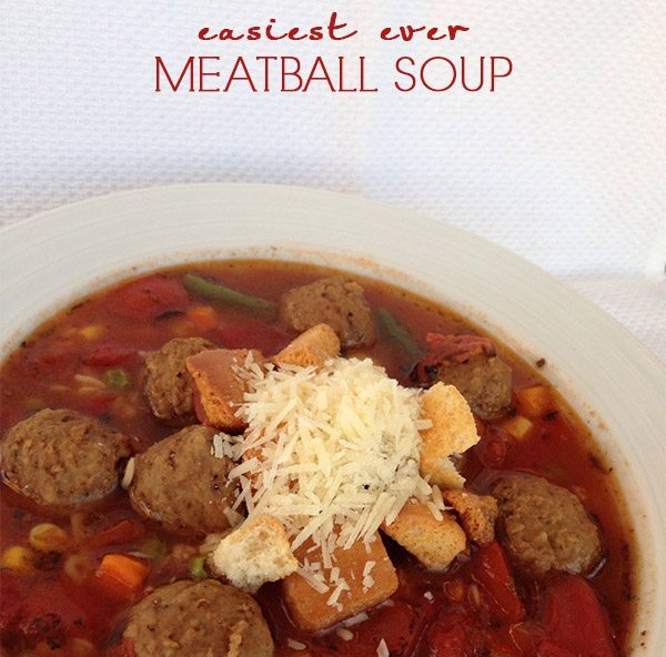 Easiest Ever Meatball Soup