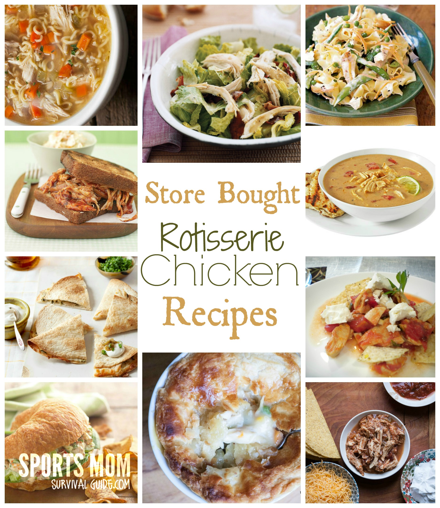 Recipes using rotisserie chickens
