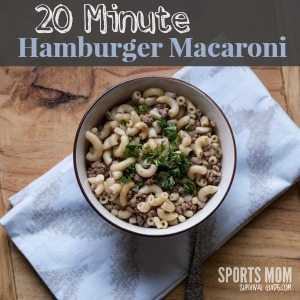 20 Minute Meal Hamburger Macaroni