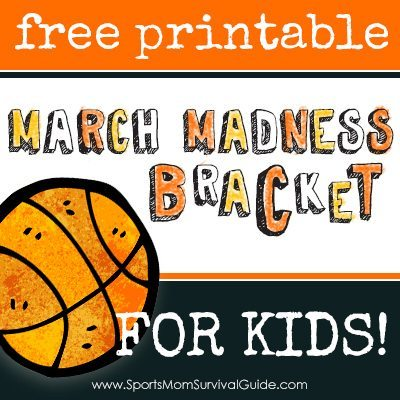 Free 2015 March Madness Printable Basketball Tournament Bracket for Kids