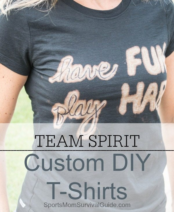 This tutorial shows you step by step how to make your own bleach pen shirt in just a few minutes!  These are great for sports teams, showing your spirit, or just expressing yourself!