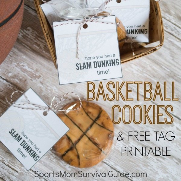 Basketball Themed Cookies with FREE Printable Tag feature image