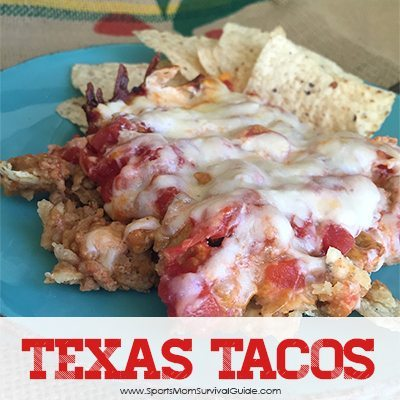 Tired of the same old taco meal? Try these Texas Tacos layered with deliciousness!