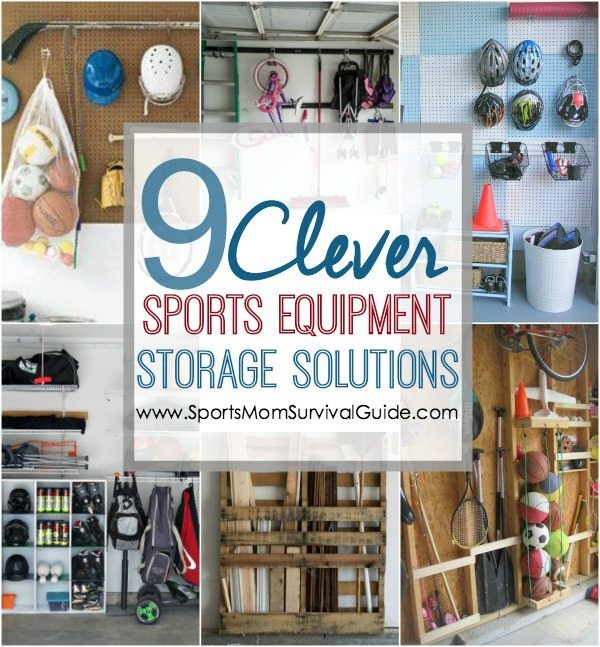 Do you have sports equipment all over your house and car? Find 9 clever sports equipment storage solutions to save space and store all those needed, but bulky, items.