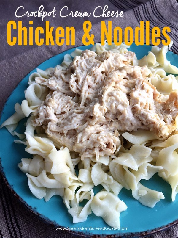 If you love yummy , but easy comfort food, you will love this Crockpot Cream Cheese Chicken & Noodles Recipe! Sure fire hit with the entire family!