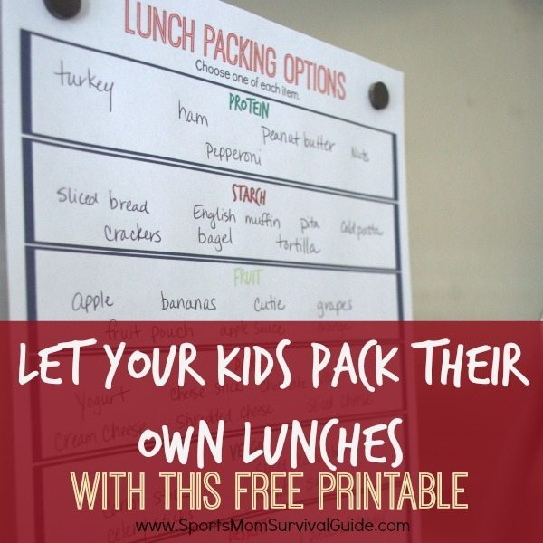 Let Your Kids Pack Their Own Lunches feature