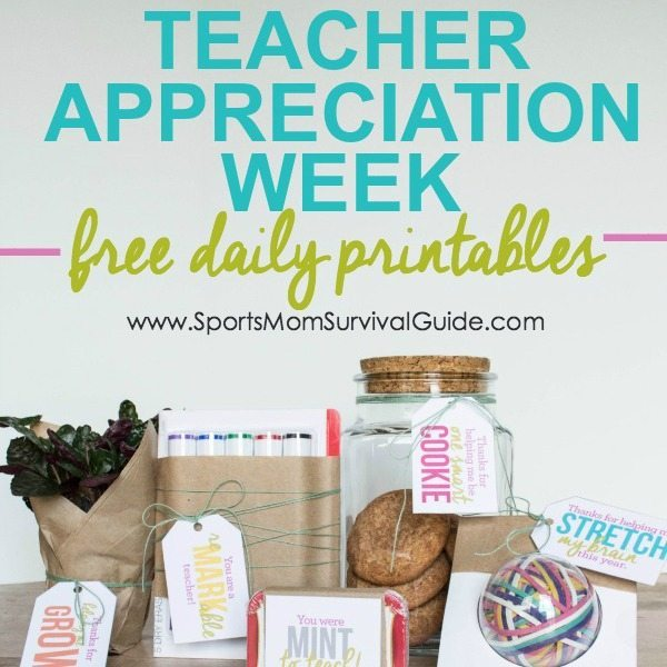 Teacher Appreciation Week Printables- feature