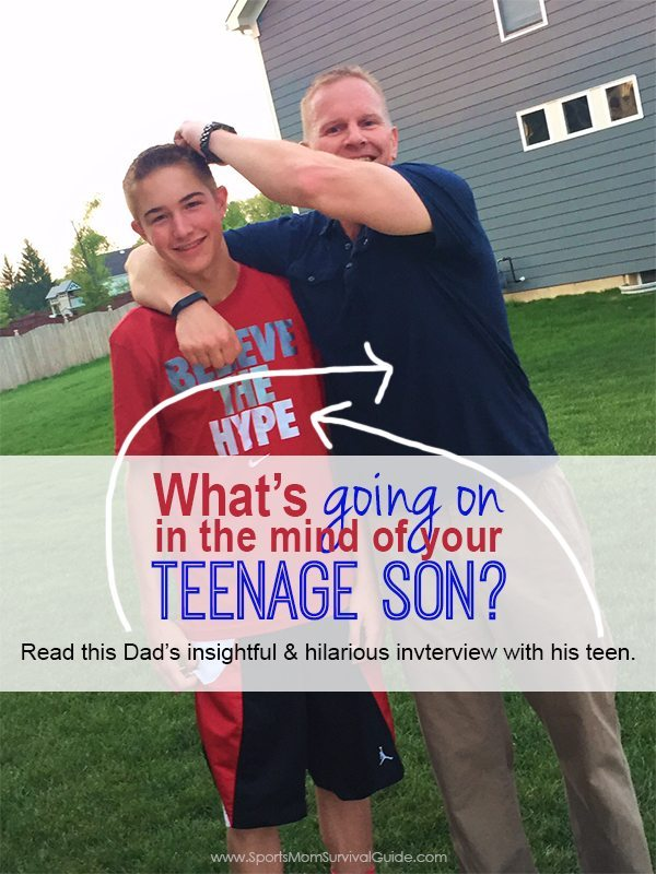 Want to know what is going on in the mind of your teenage son's mind?  Check out this Dad's insightful & hilarious interview with his teenage son!