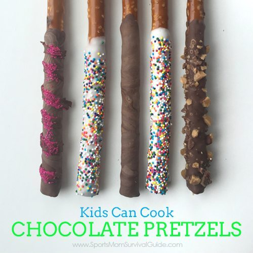 Are you kids bored and looking for something to do? Work on their cooking skills by teaching them how to make chocolate covered pretzels..all by themselves!