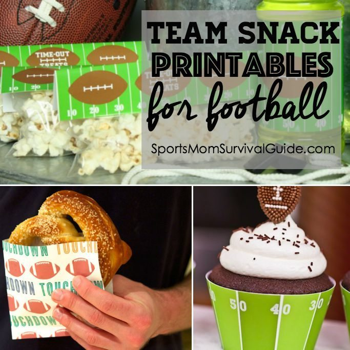 Team Snack Printables for football- feature