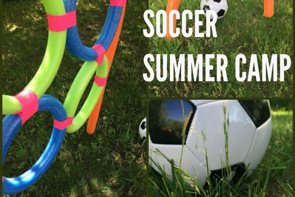DIY Soccer Camp Using Pool Noodles