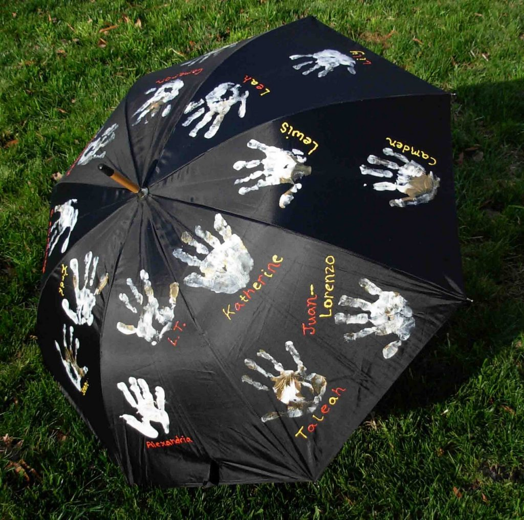 Personalized Handprint Umbrella