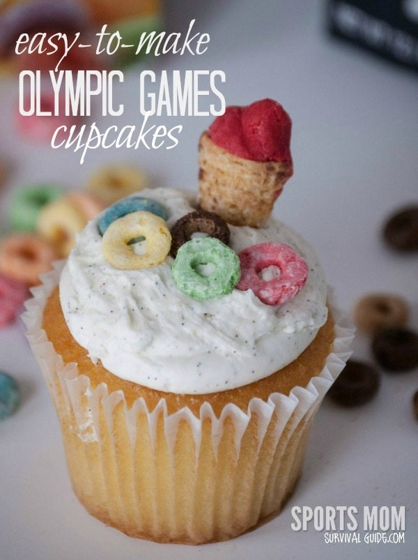 SIMPLE Olympic Games Cupcakes from Sports Mom Survival Guide