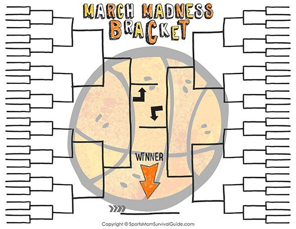 march madness printable bracket for kids from