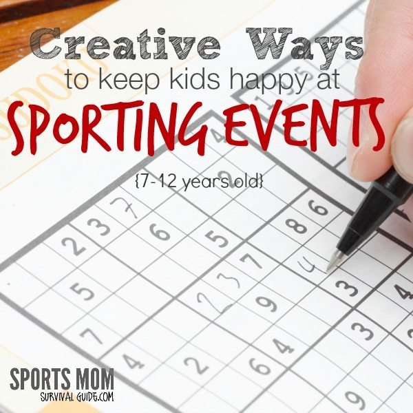 Get some Creative ways to keep Kids happy at Sports Events so you can watch the game! This part of the series is for ages 7-12.