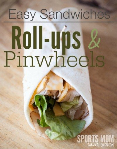 Find some great ideas for easy sandwiches by making roll-ups and pinwheels!