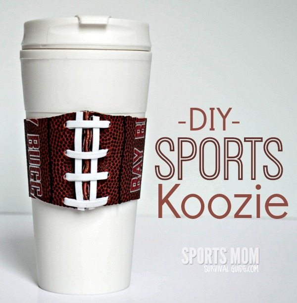 Get step-by-step instructions for making a DIY sports koozie! These make a perfect gift for any sports fan!