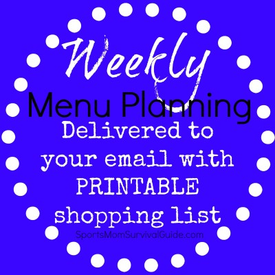 Weekly menu planning can make your life less stressful! We will make that process even easier with menus and printable shopping lists delivered to you inbox!