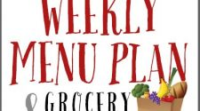 free weekly menu plan and grocery list