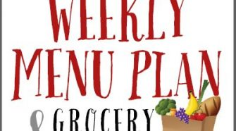 free weekly menu plan and grocery list