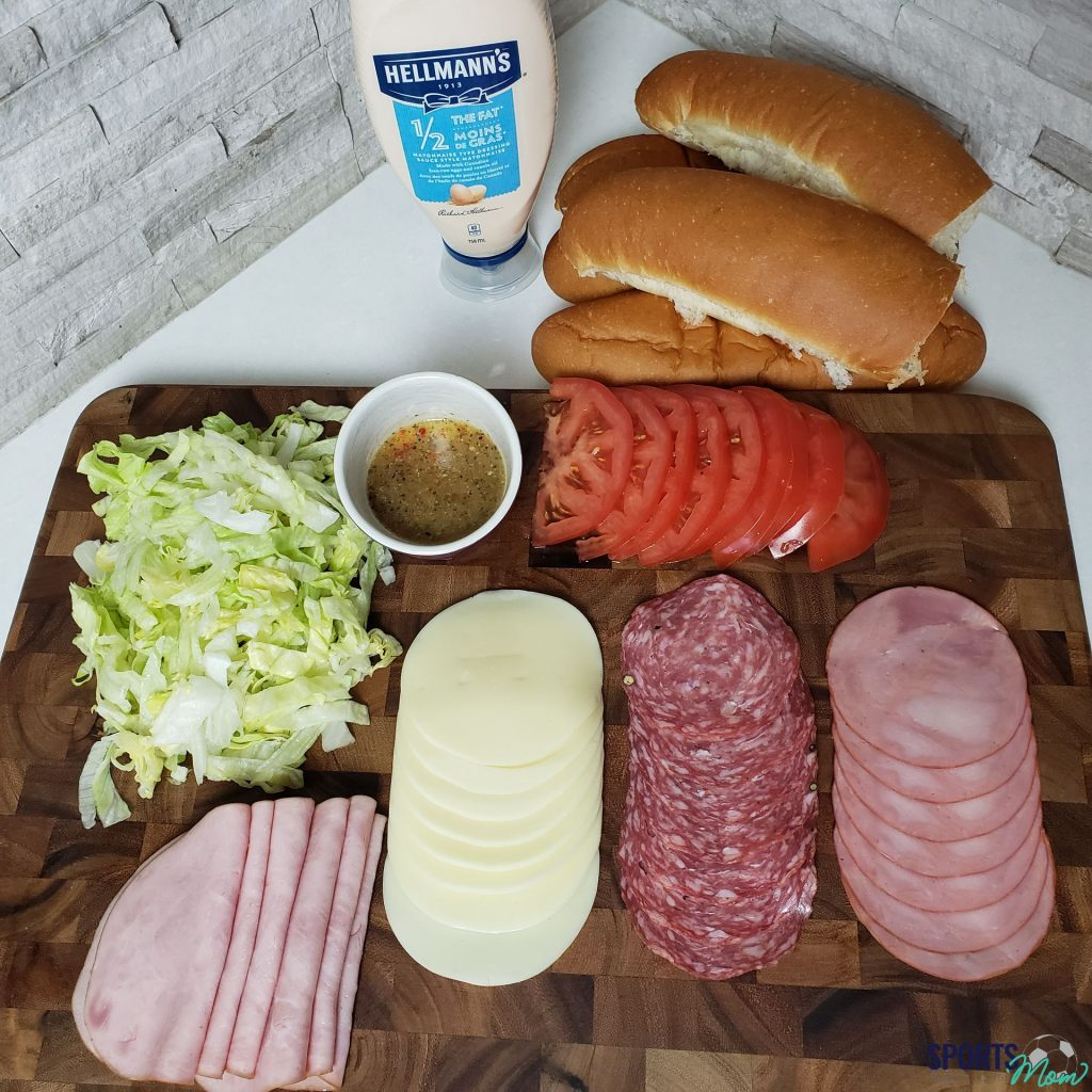 "Ingredients to Make the ""Vito"" Jimmy John's Sandwich"