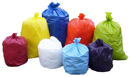 colorful trashbag fundraiser