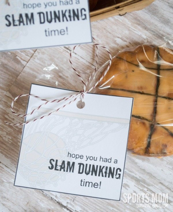 Basketball Themed Cookies with FREE Printable Tag