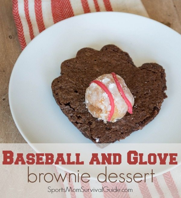 EASY Glove and Baseball Brownie Dessert