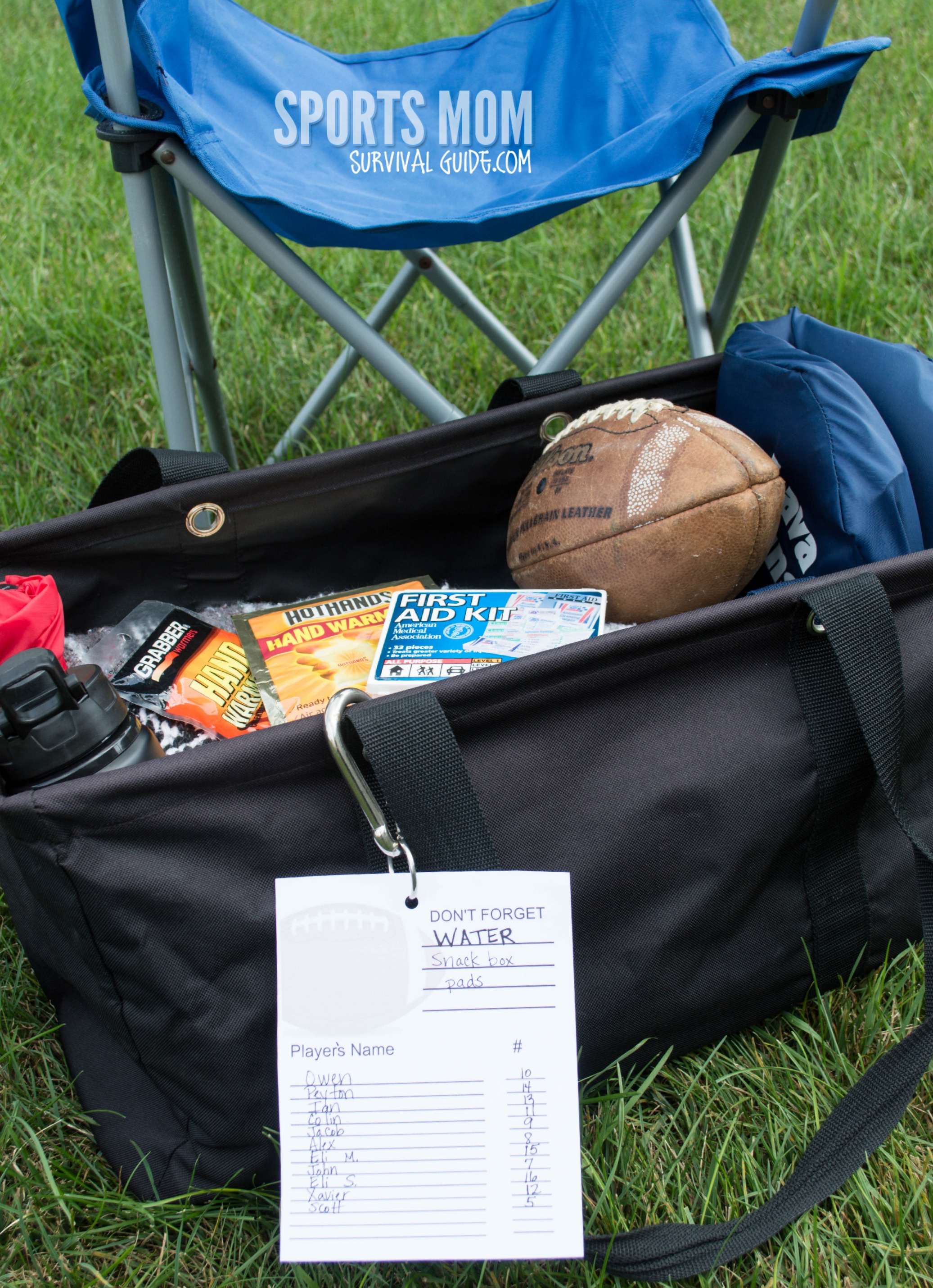 Football Survival Bag Essentials
