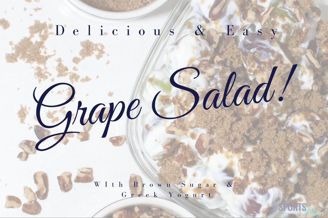 Delicious, Easy, & Healthy Grape Salad w/ GReek Yogurt