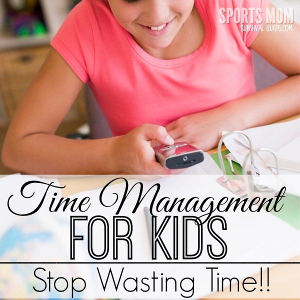 Find some tips for time management for kids! Help them stop wasting time and get the important tasks accomplished first!