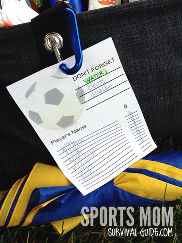 Do you ever leave home for a game or practice and forget something? The Soccer Survival Bag Essentials list helps you be prepared for every soccer game!