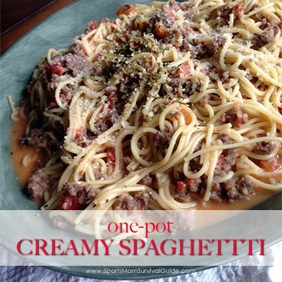 One-Pot Creamy Spaghetti