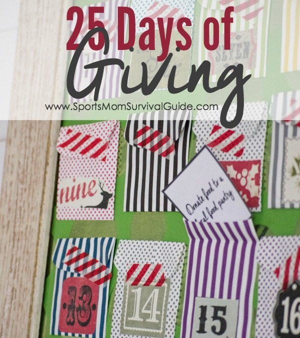 Do you want to truly spread joy this holiday season?  Teach your kids what it means to be generous by participating in 25 Days of GIVING this December.
