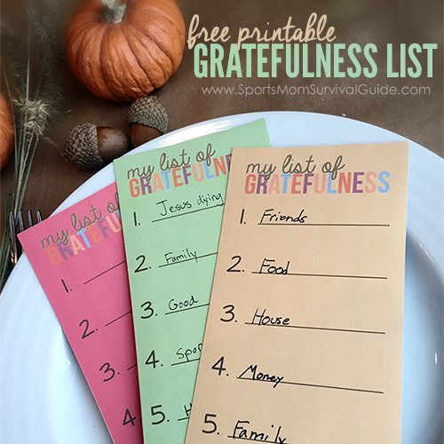 Give your Thanksgiving guests a chance to create a list of things they are thankful for. Use these Thanksgiving Gratefulness Printable Cards this holiday season.