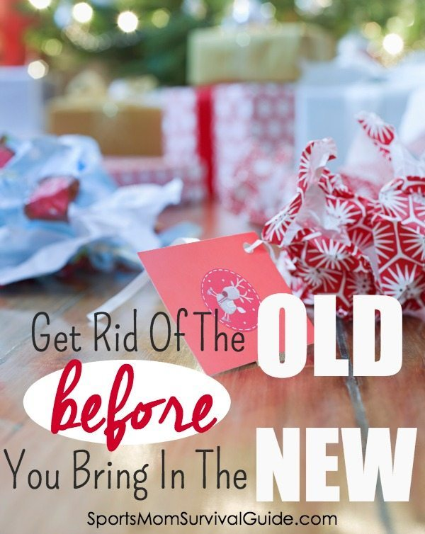 Get rid of the old before you bring in the new this Christmas.  Having your home cleared of the things you don't need any longer BEFORE you bring in new items will help with your sanity!