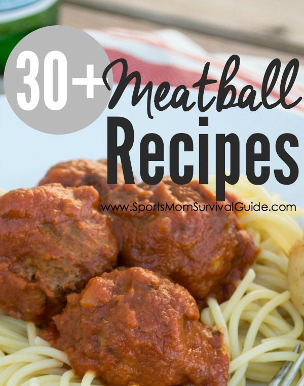 Need a quick meal? Try on of these 30+ MEATBALL RECIPES using pre-made or homemade meatballs for a quick and easy meal!