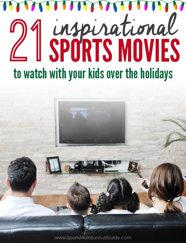 The holidays lend to lots of family time! Be sure to enjoy one of these 21 Inspirational Sports Movies on family movie night! There's something for everyone!