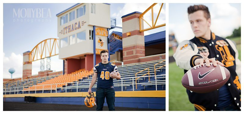 Tired of boring, studio photo shots for senior pictures? Take a peek at these best senior picture ideas for football players.