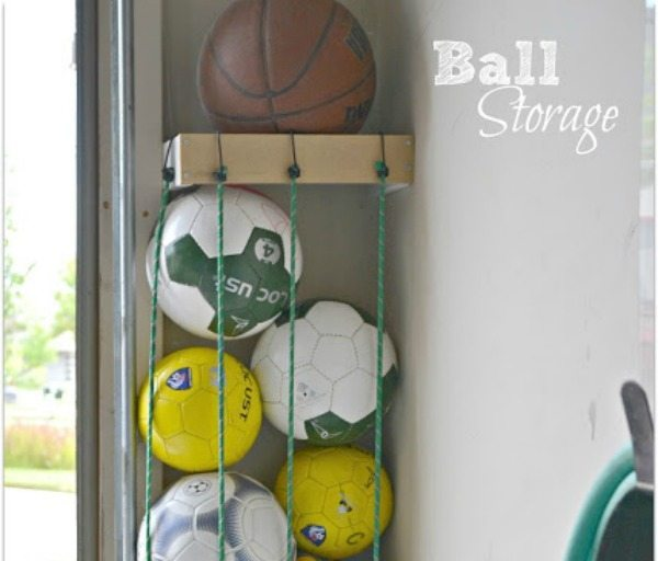 Charming Ball Storage Using Bungee Cords