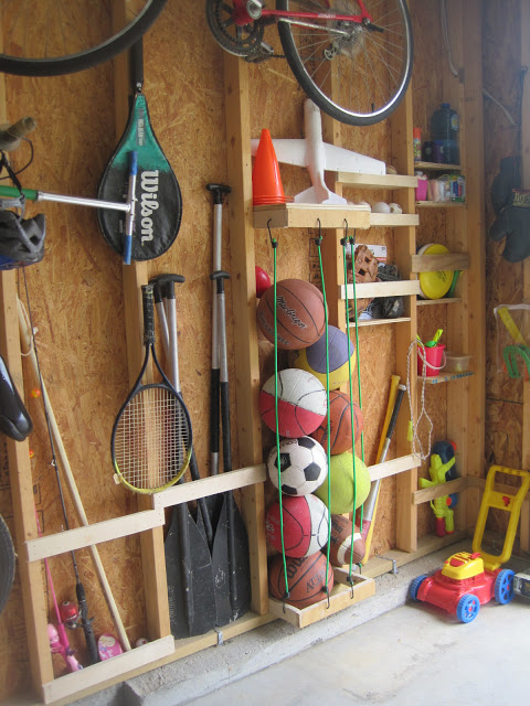 Ball Storage Net Garage Designs