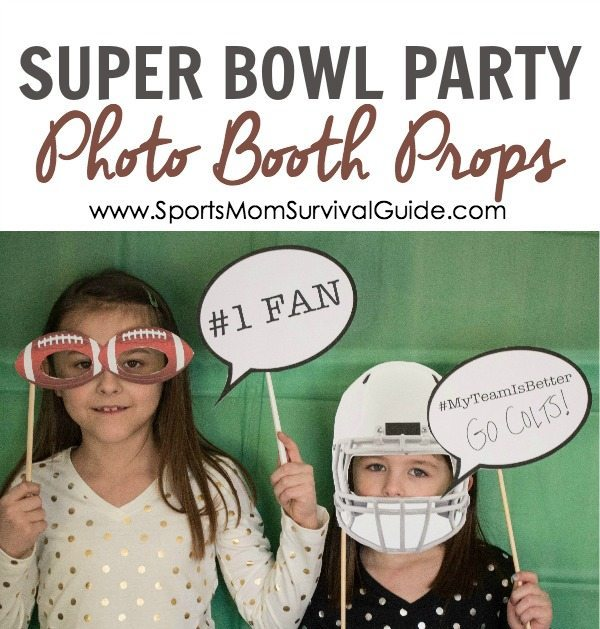 Super Bowl Party Photo Booth Props 1