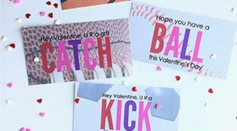 Use these Free Printable Sports Valentine Cards for your kid's classmates this year!