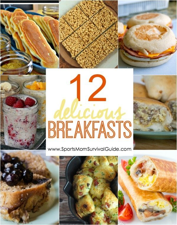 Need to spice up your morning routine? Check out these 12 DELICIOUS breakfast options to get you going! (Most can be made in advance!)