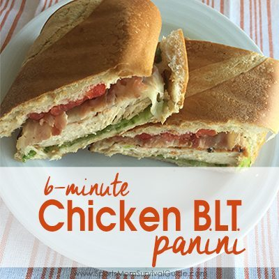 If you need a quick, healthy, protein filled meal for your family, you can make this Chicken BLT Panini in just 6 minutes.