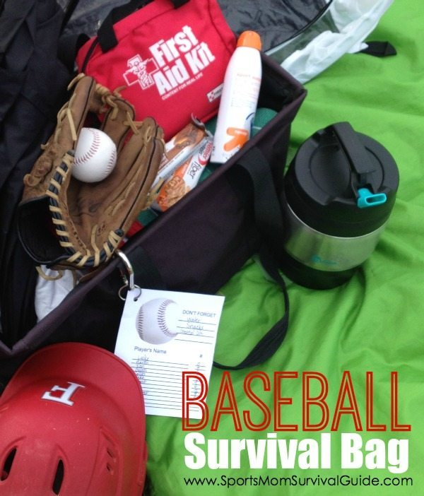 Ever leave home for a game or practice and forget something? The Baseball Survival Bag Essentials list helps you be prepped for every baseball game!