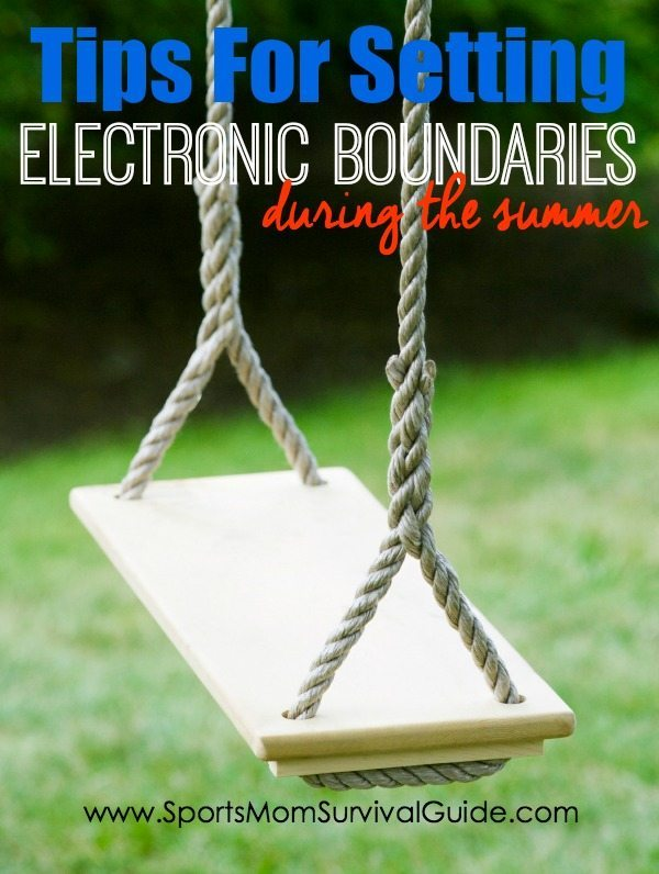 "Have you ever heard the phrase, ""Kids don't remember their best day of television""?  It's so true. Here are some tips for setting electronic boundaries this summer!"