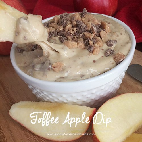 Every time I make this Toffee Apple Dip it's such a huge hit, it disappears before my eyes. What I love the most is that it takes just 5 minutes to make!