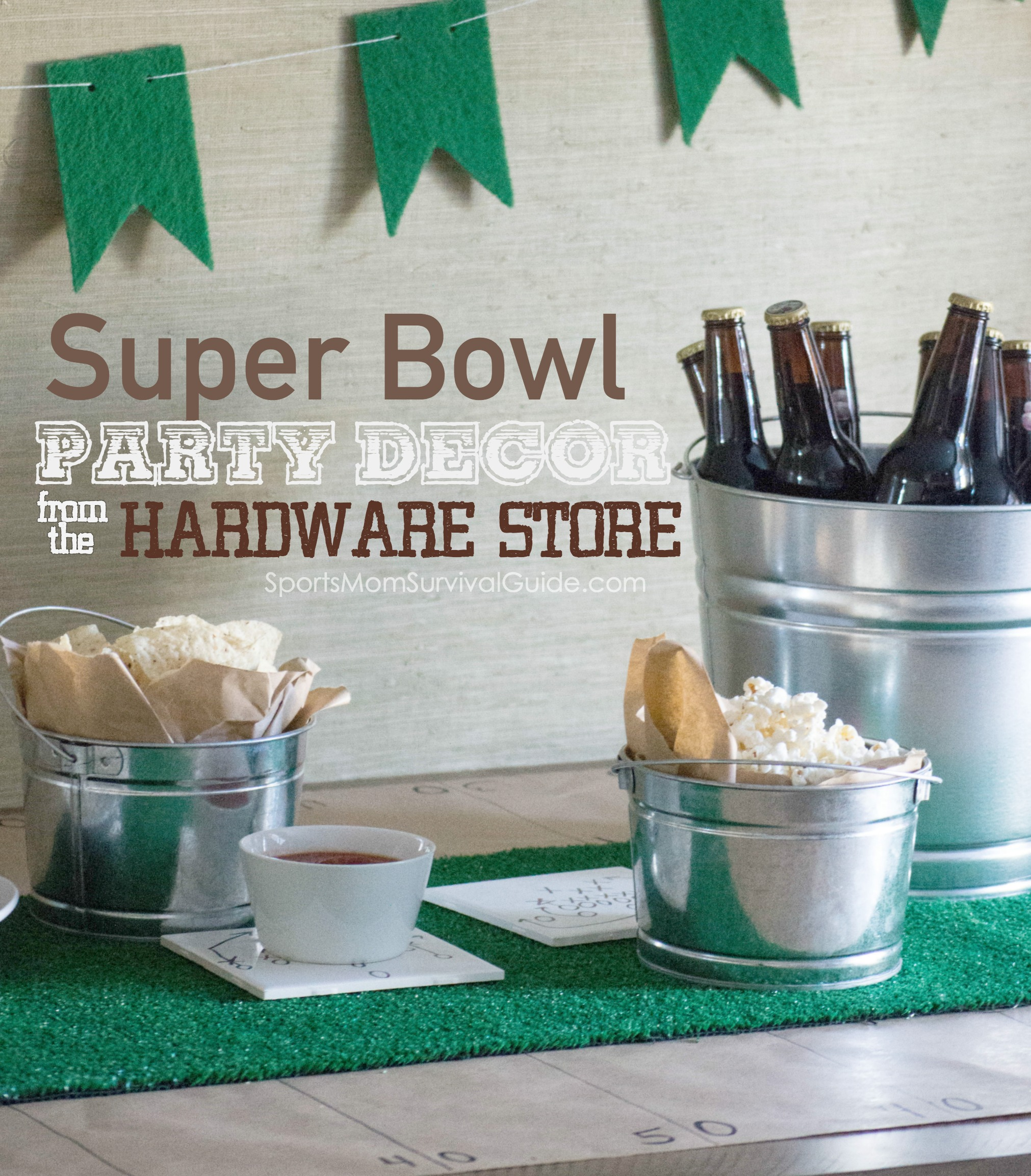 Throw A Last Minute Super Bowl Party With Hardware Store Decor