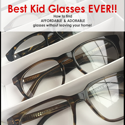We found affordable & adorable glasses for kids! You can shop for them without even leaving your home.
